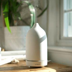 Vitruvi white stone diffuser retail $145